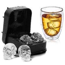 Gran Cubo de Hielo Bandeja Molde de goma Calavera Maker Grande Esfera Whisky Círculo hágalo usted mismo Molde