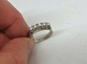 18ct white gold Diamond band eternity ring pretty design size M+