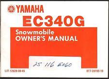 1983 YAMAHA EC340G SNOWMOBILE OWNERS MANUAL NEW LIT-12628-00-45  (420)