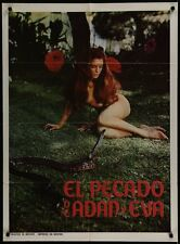 SIN OF ADAM AND EVE Mexican movie poster 1969 JORGE RIVERO CANDY WILSON