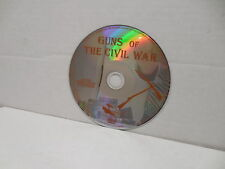 Guns Of The Civil War DVD Documentary NO CASE Parrott Gatling Howitzer Weapons