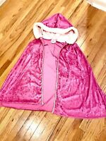 Vintage Disneyland Aurora Sleeping Beauty Cape Top Velvet Fur Hood Parks Womens