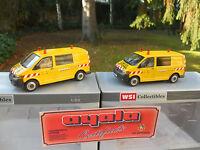 "WSI  02-1532 LOT DE 2 VW TRANSPORTEUR VOITURE D'ACCOMPAGNEMENT "" AYALA "" MIB"