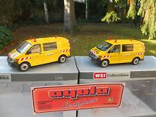 """WSI MODELS 02-1532 LOT DE 2 VW TRANSPORTEUR VOITURE D'ACCOMPAGNEMENT """" AYALA """""""