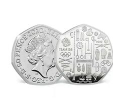 2020 Team GB Tokyo Olympics 50p Coin - BUNC New Fifty Pence Rare ((PREORDER))###