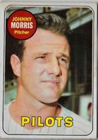 1969 TOPPS #111 JOHNNY MORRIS SEATTLE PILOTS ROOKIE CARD MLB BASEBALL