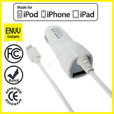 iPhone 6/5/5S/5C 8 Pin Data Cable USB + Genuine In 2.1A Car Super Fast Charger