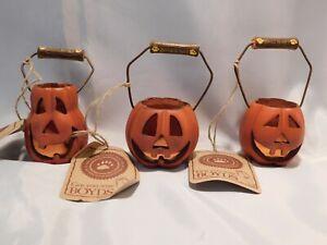 "Boyds Bears - Halloween - SET OF 3 ""PUNKY'S PUMPKINS"" - BRAND NEW IN BOX"