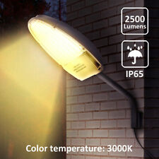 24W Warm White Led Street Area Lighting Dusk to Dawn Sensor Ip65