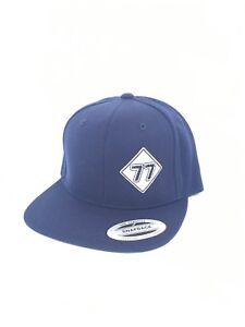 Vampar Clothing Co Street Sign Logo Snapback Flat Bill Hat Navy Surf Skate Snow