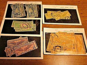 U.S. Used #C7, C9, C12, C17 & C19 Air Mail Stamps in 5 Glassine Packets