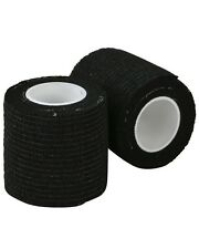 BLACK TACTICAL ARMY STYLE STEALTH MULTI USE REUSABLE CLOTH SNIPER TAPE AIRSOFT