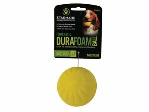 StarMark Fantastic Foam Ball Dog Toy Extremely Durable Bounces Floats Medium