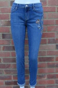 R JEANS WOMEN'S EMBROIDERED BLUE GIRLFRIEND JEANS ALL SIZES