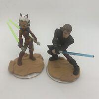 Lot 2 Figures Disney Infinity Star Wars 3.0 Anakin Skywalk Ahsoka NWOB