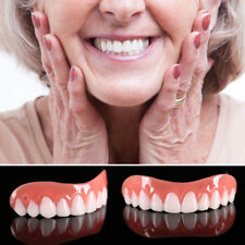 Perfect Instant Smile Comfort Fit Flex False Dentures Teeth Top Cosmetic Dental