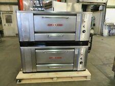 Blodgett 1000 Double Pizza Deck Oven Natural Gas 1200000 Btu Double Burner