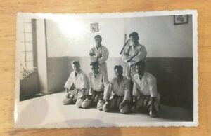 ARTS MARTIAUX JUDO JIU JITSU PHOTO ORIGINALE CLUB DE JUDO CHATELLERAULT 1950