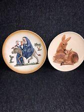 "Goebel Set Of 2 7.5 ""Plates Mothers Series , Flight In Egypt"
