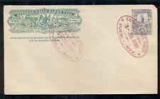 MEXICO 1898 5c Wells Fargo Express envelope tied w/magenta Express cancel