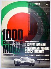 Porsche Factory poster 1000 Km Monza 1969 ~ guaranteed original  ~  908