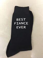 Best Fiance Ever Valentines Gift Men's Novelty Vinyl Printed Socks