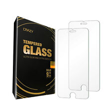 2 X CRAZY Premium Tempered Glass Screen Protector For Apple iPhone 7 8 PLUS X