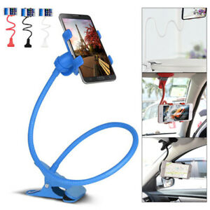 Flexible Long Arm Lazy Stand Clip Holder For Mobile Phone Tablet Desktop Beds UK