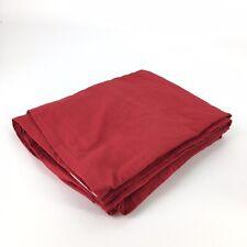 "IKEA Solid Red RITVA Curtain Panels 57"" x 98"" Canvas Linen Look 100% Cotton"