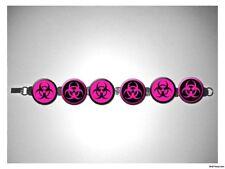 Biohazard Hot Pink Zombie 8 inch bracelet w/fold over clasp
