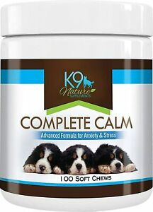 K9 Nature Supplements: Complete Calm - 100 Soft Chews for Dogs - Advanced...