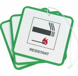 30 X FIRE SAFETY LABELS SWING TAGS FOR FURNITURE / UPHOLSTERY / CHAIRS
