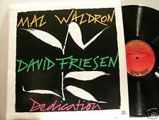 MAL WALDRON & DAVID FRIESEN Dedication Soul Note LP
