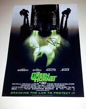 "THE GREEN HORNET REMAKE CAST X2 PP SIGNED 12X8"" POSTER SETH ROGAN"