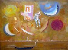 """TRENTO LONGARETTI Signed 1994 Original Oil on Canvas - """"Fantasia su Venezia"""""""