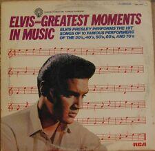 ELVIS PRESLEY, GREATEST MOMENTS IN MUSIC - LP DML1/0413