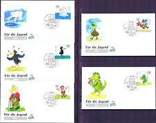 BRD 1999: Trickfilmfiguren FIDACOS-Jugend-FDC Nr 2055-2059! Bonner Stempel! 1803