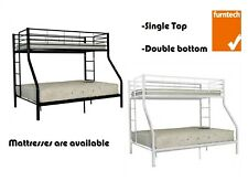 Metal Trio Bunk Bed Single and Double Bunk Bed Furntech Approved Furniture