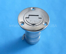 "Boat Deck Fill / Filler Keyless Cap -1 1/2"" Fuel - Marine Stainless Steel"