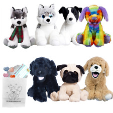 """Have Your Own 8""""/20cm Build a Dog Making Party - no sew - great fun!"""