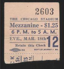 1930s Chicago Stadium Six Day BICYCLE RACING Ticket Stub