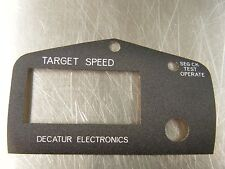 POLICE DECATUR RADAR DECAL, RAGUN OR GN-1 HANDHELD STATIONARY FACE PLATE DECAL