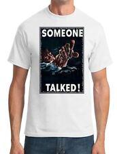 War Propoganda Poster - Someone Talked - Mens T-Shirt