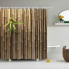 1PC 180x180cm Shower Curtain Waterproof Bath Curtain Stylish Design Bamboo