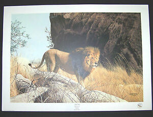 "Charles Frace S/N print ""Mighty Warrior"" Lion Limited Edition"
