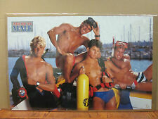 American male Scuba Hot Guys ORIGINAL Vintage Poster 1988 2796