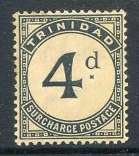 Trinidad 1885-6 Postage Dues 4d variety mint never hinged (2015/07/27 #05)