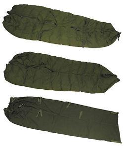 BW Schlafsack, Winter, 4-teilig, mit Lagerspuren, aus BW Beständen