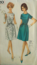 Vtg 1960s  Day Business to Cocktail Party Dress Size 9 Bust 30.5 Simpliciy 6220