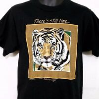 Siberian Tiger T Shirt Vintage 90s Earth Foundation Made in USA Size Medium